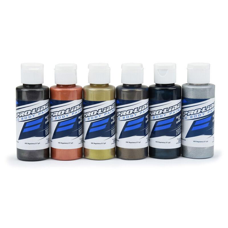 Pro-Line RC Body Paint Pure Metal Color Set (6 Pack)