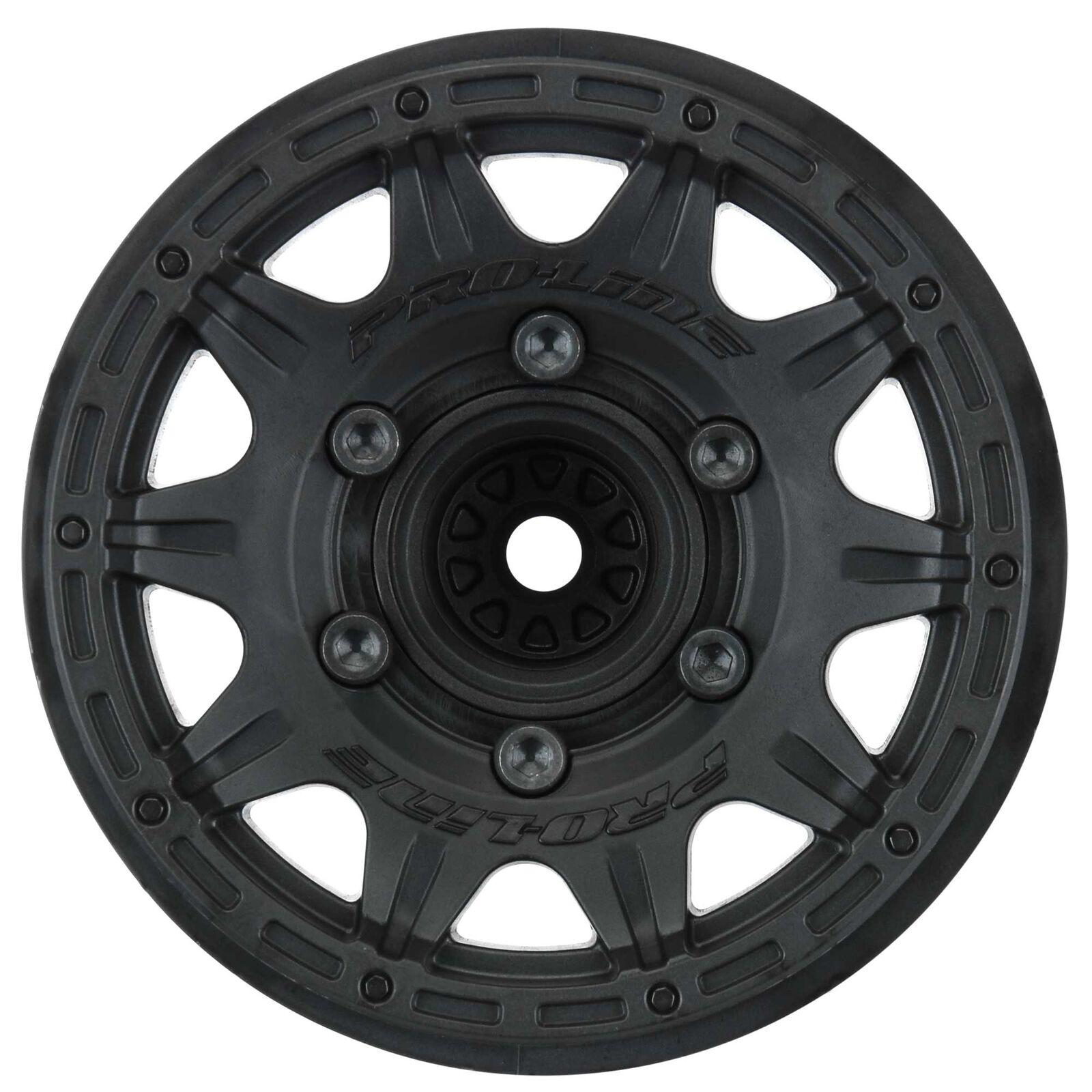 """1/10 Raid F/R 2.8"""" Removable Hex Wheels MT 12mm (2) Black"""