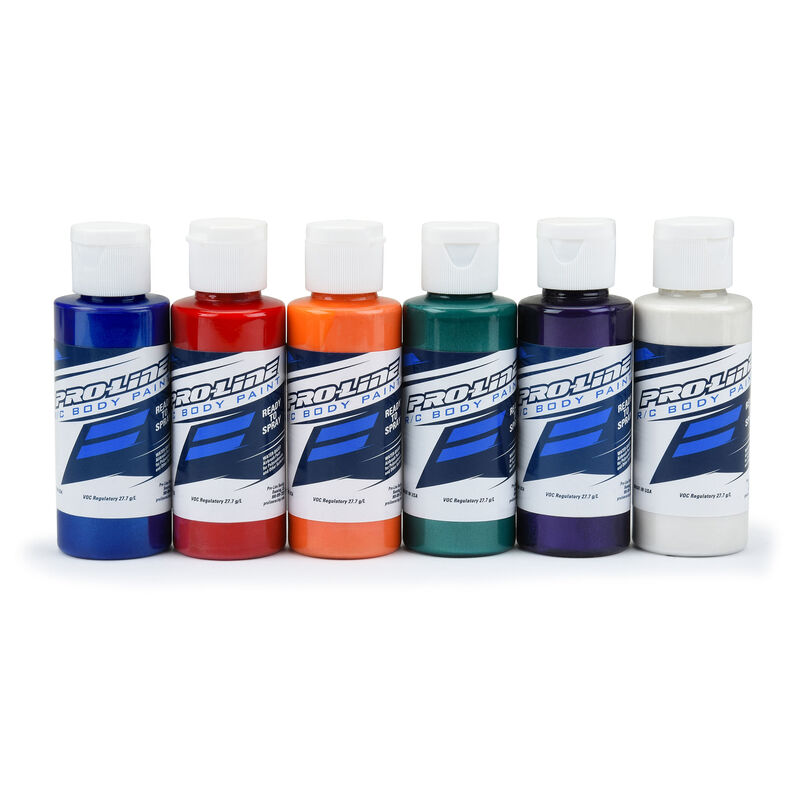 Pro-Line RC Body Paint All Pearl Color Set (6 Pack)