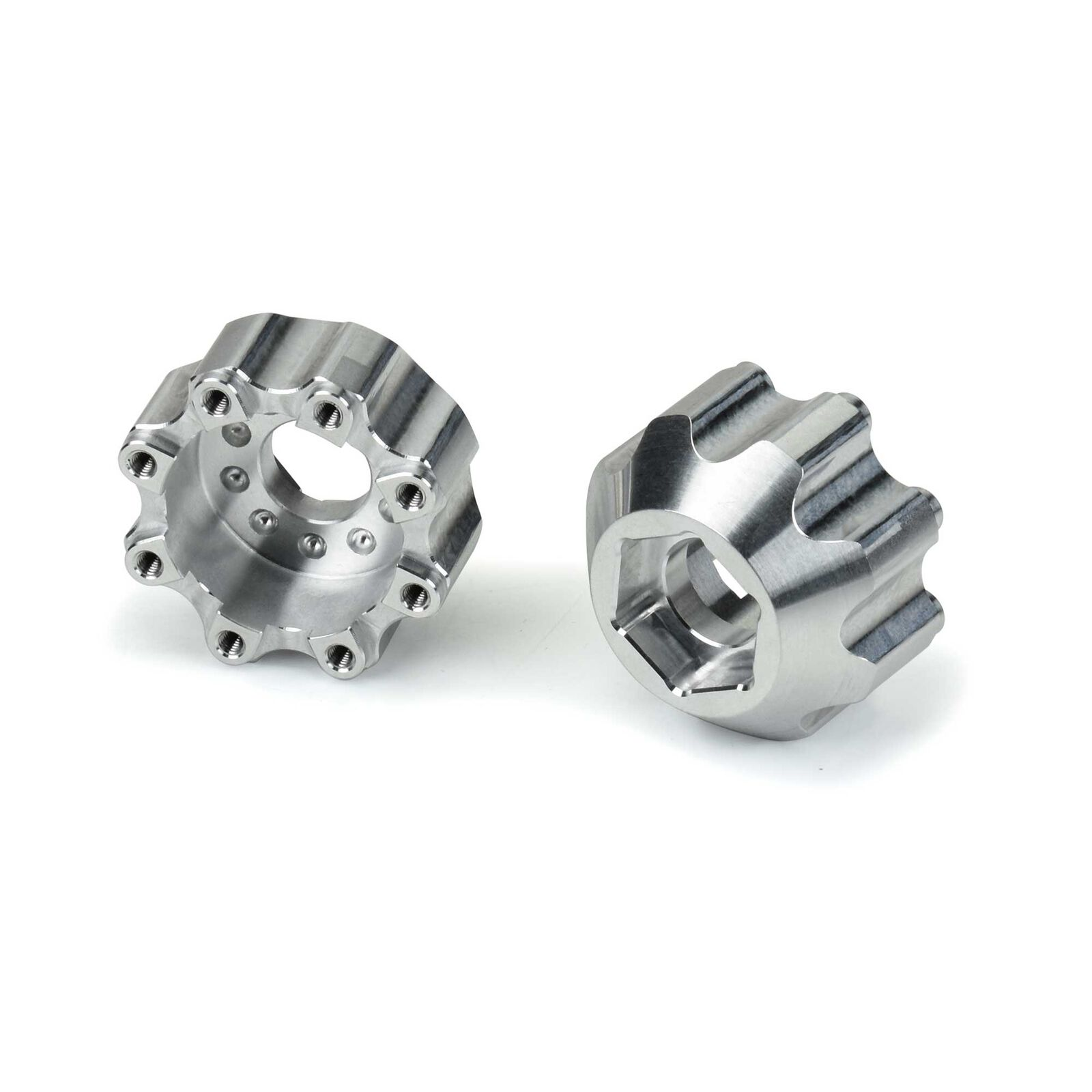 """1/8 8x32 to 17mm 1/2"""" Offset Aluminum Hex Adapters"""
