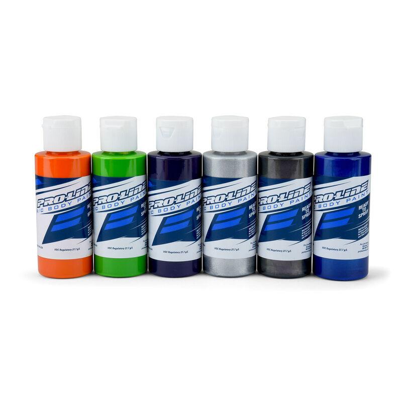 Pro-Line RC Body Paint Secondary Color Set (6 Pack)