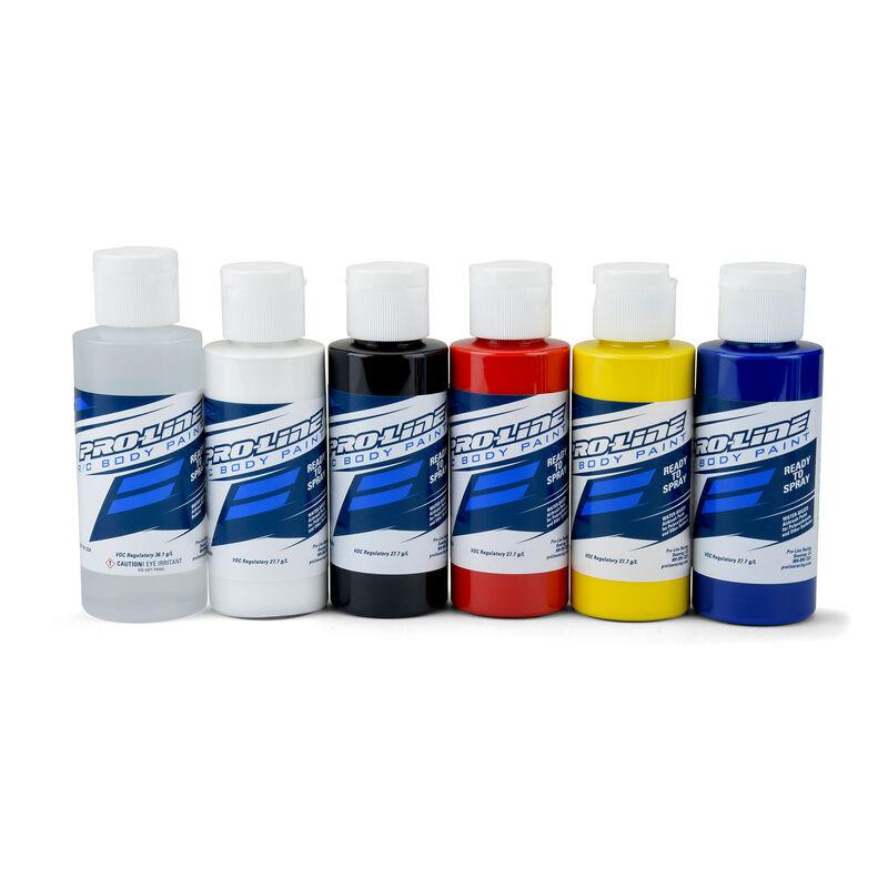 Pro-Line RC Body Paint Primary Color Set (6 Pack)