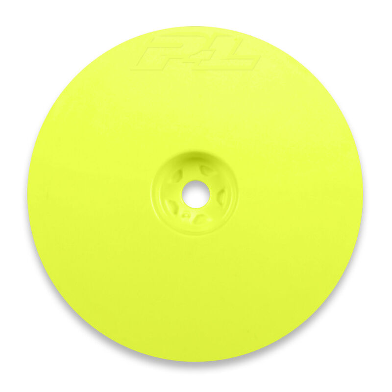 """1/10 Velocity 2WD Front 2.2"""" 12mm Buggy Wheels (2) Yellow"""