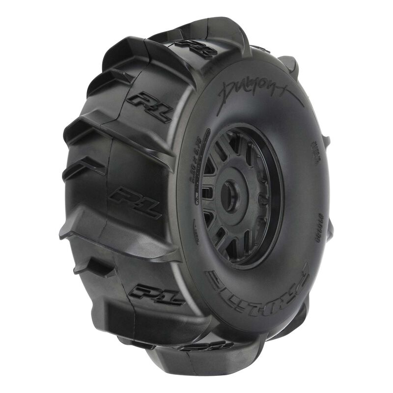 1/7 Dumont Fr/Rr Sand/Snow Mojave Tires Mounted 17mm Blk Whls (2)