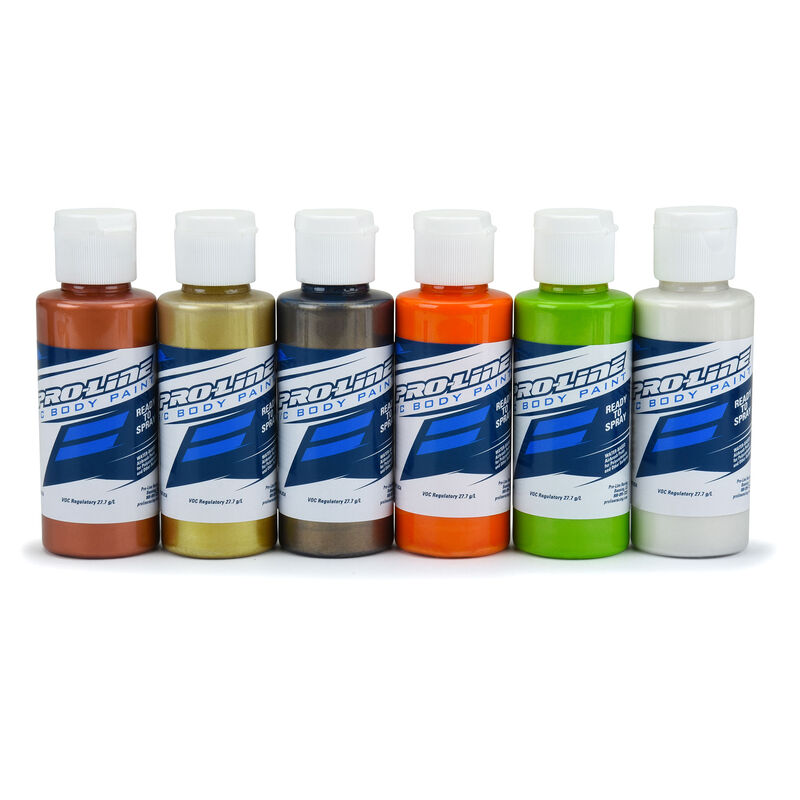 Pro-Line RC Body Paint Metallic/Pearl Color Set (6 Pack)