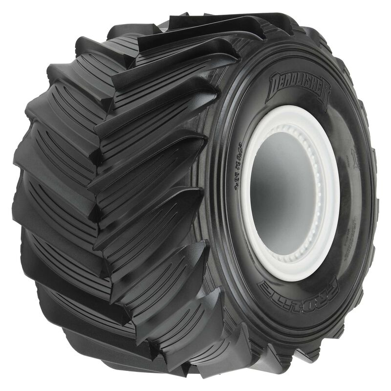 "1/10 Demolisher Fr/Rr 2.6""/3.5"" MT Tires Mounted 12mm Gray Whls (2)"