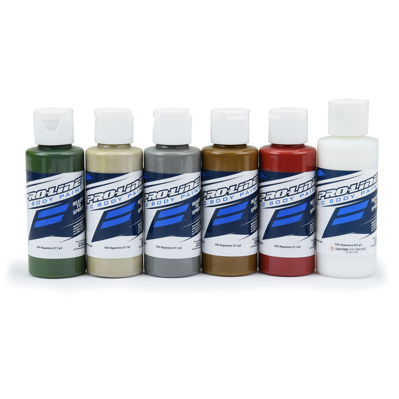 Pro-Line RC Body Paint Military Color Set (6 Pack)