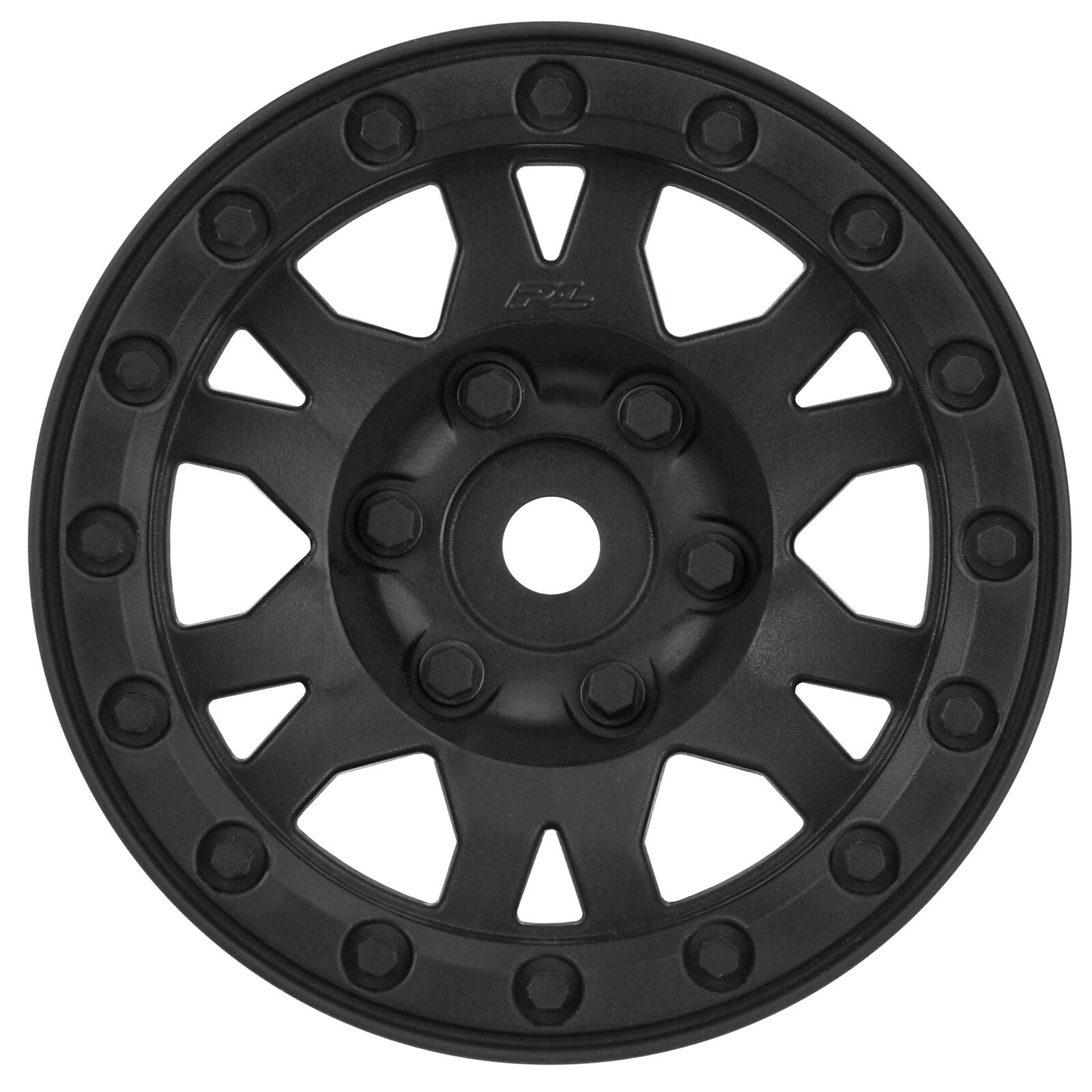 "1/10 Impulse Front/Rear 1.9"" 12mm Rock Crawler Wheels (2) Black"
