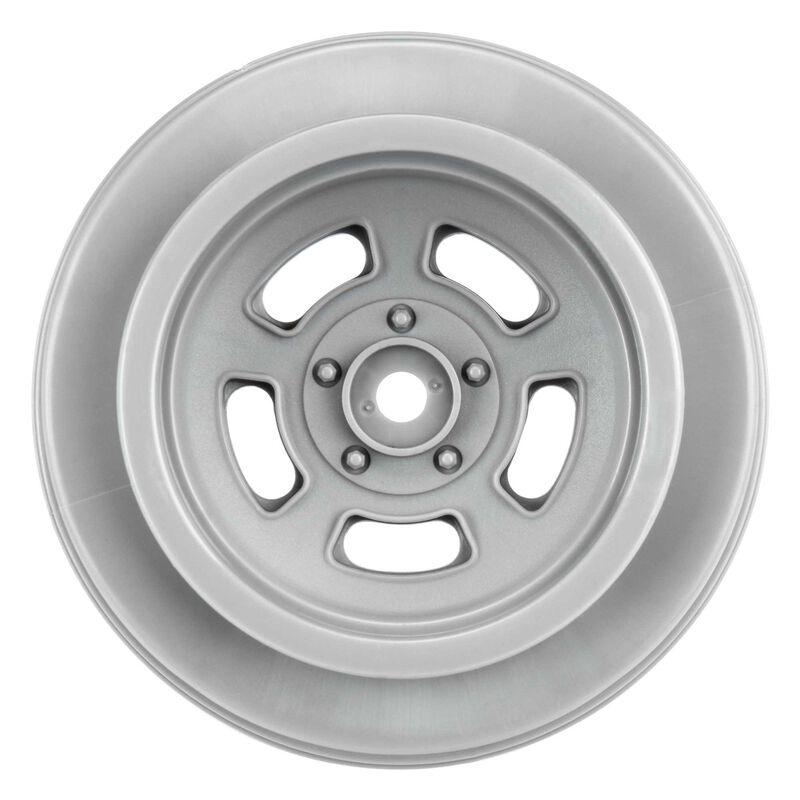 """1/10 Slot Mag Drag Spec Rear 2.2""""/3.0"""" 12mm Drag Wheels (2) Gray"""