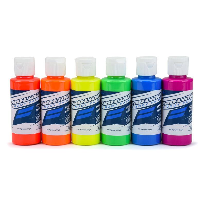 Pro-Line RC Body Paint Fluorescent Color Set (6 Pack)
