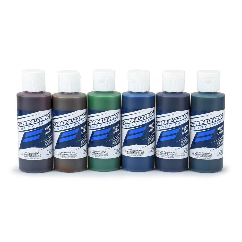 Pro-Line RC Body Paint Candy Color Set (6 Pack)