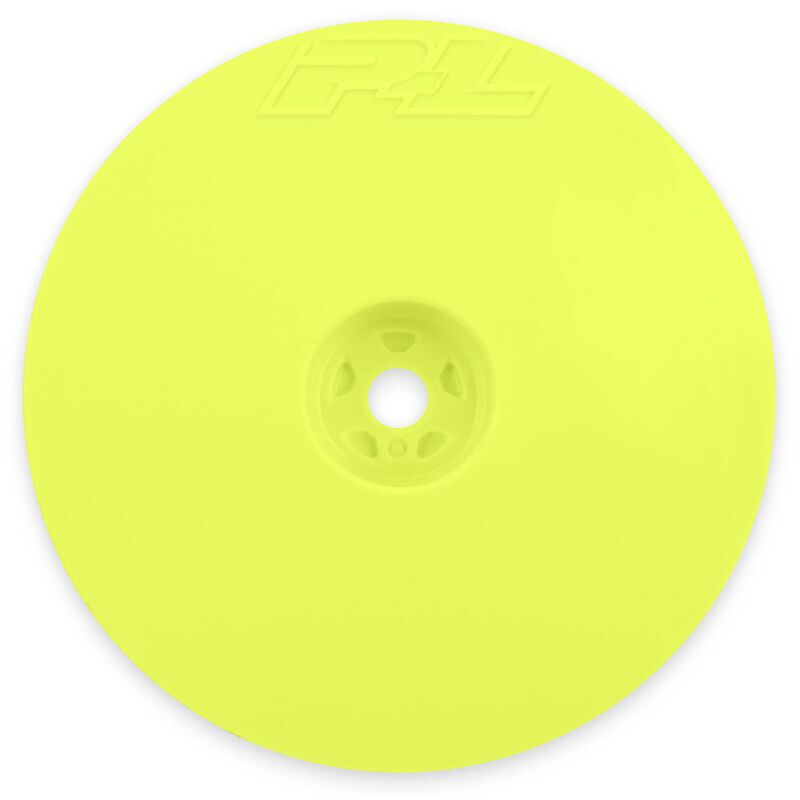"""1/10 Velocity Narrow 2WD Front 2.2"""" 12mm Buggy Wheels (2) Yellow"""