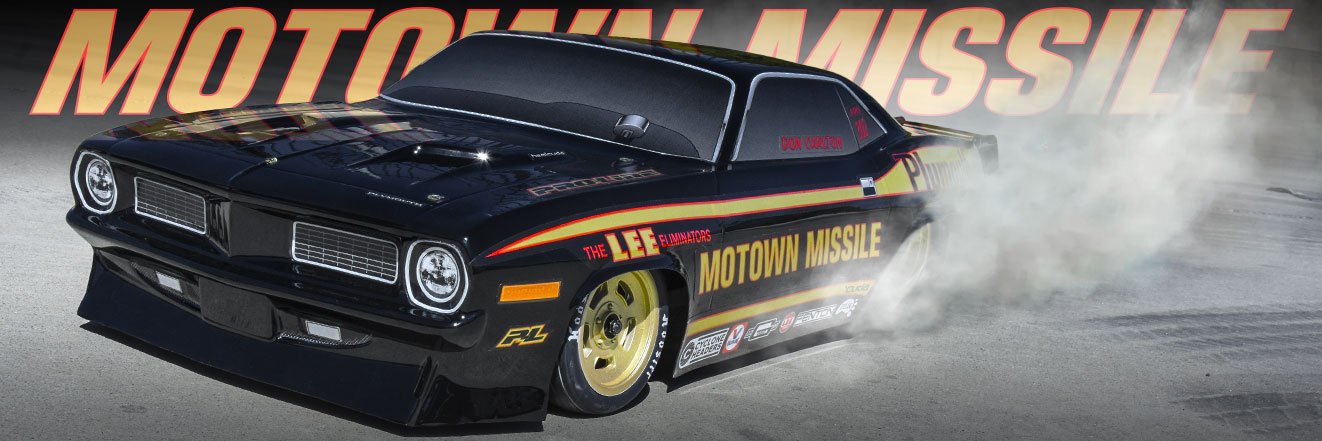 1972 Plymouth Barracuda Motown Missile Edition Tough-Color (Black) Body